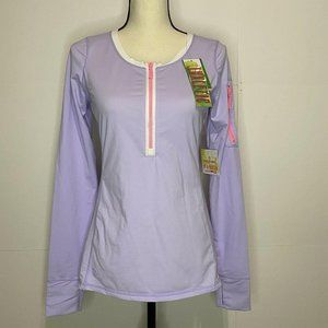 NWT Lilly Pulitzer Small Purple Zip Front Luxletic